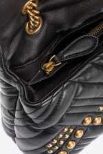 Classic Love Bag Puff Woven Studs