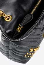 Mini Love Bag Puff Woven Studs
