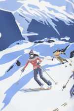 スキーヤー プリント ミニスカート