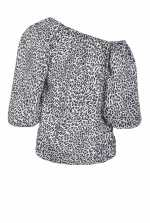 Blouse with mini spots