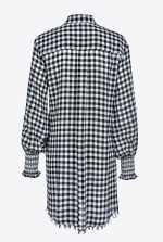 维希格纹衬衫式连衣裙