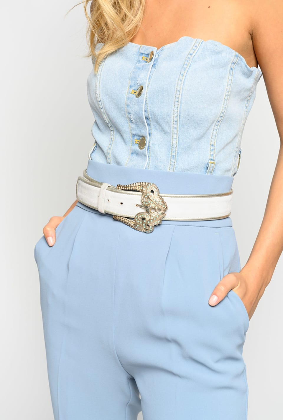 Belt with maxi buckle