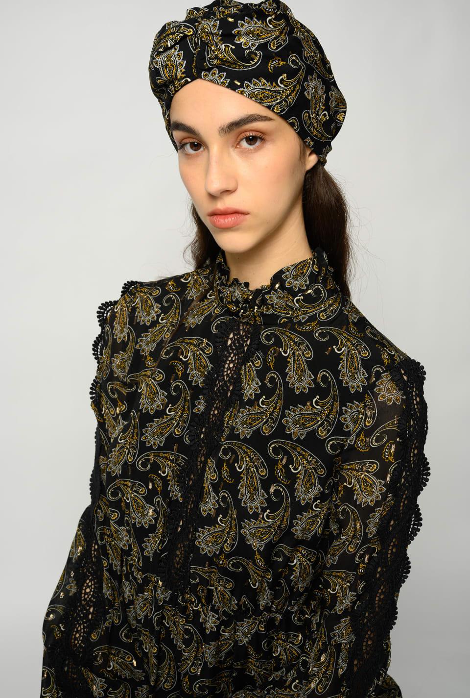 Paisley print turban - Pinko