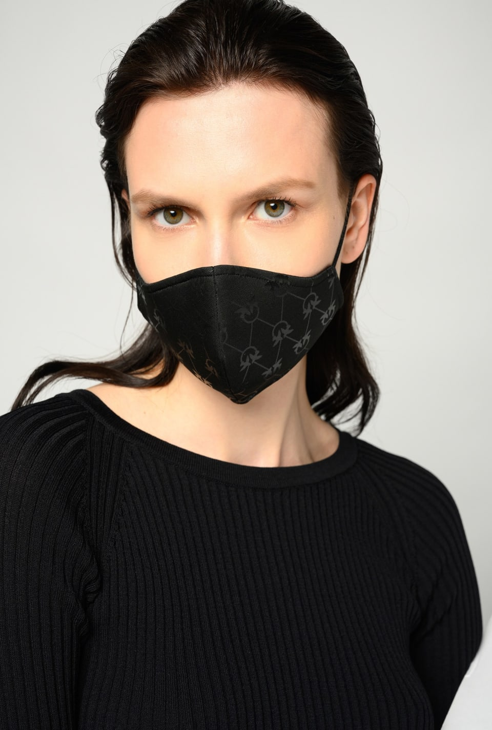 Monogram face mask - Pinko
