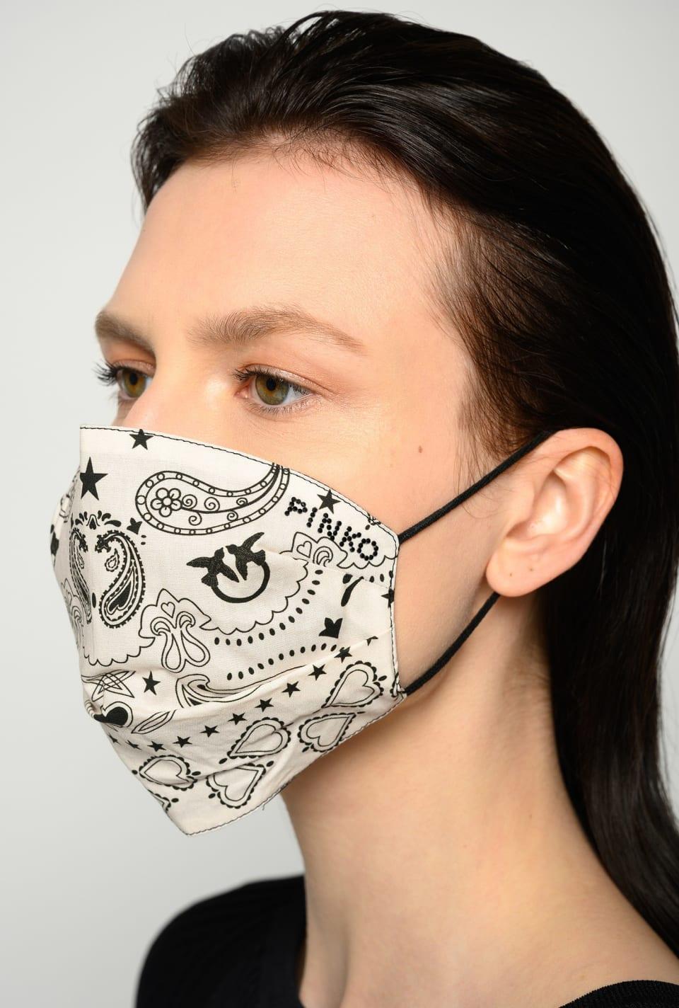 Bandana-print face mask - Pinko