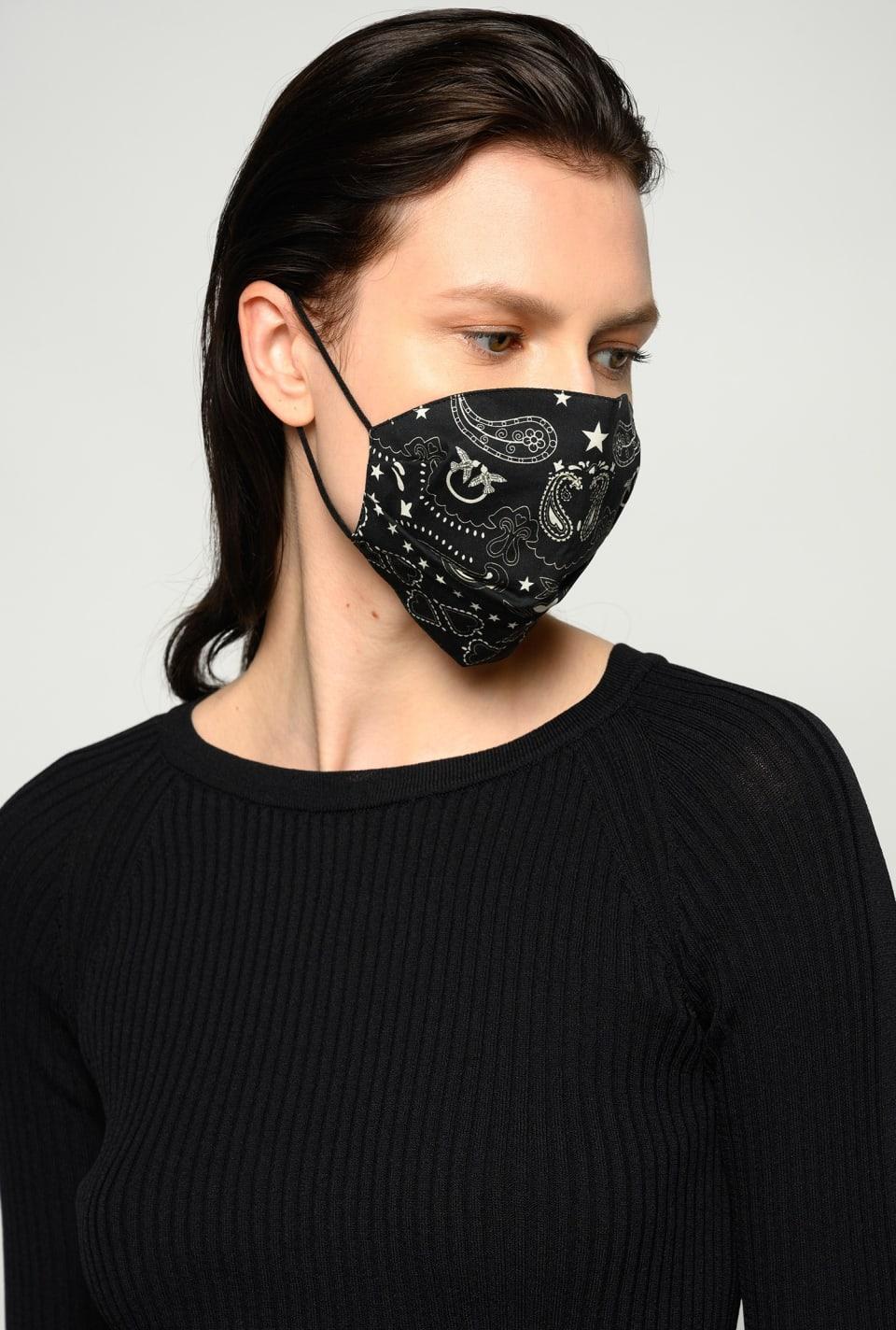 Schutzmaske mit Bandana-Print - Pinko