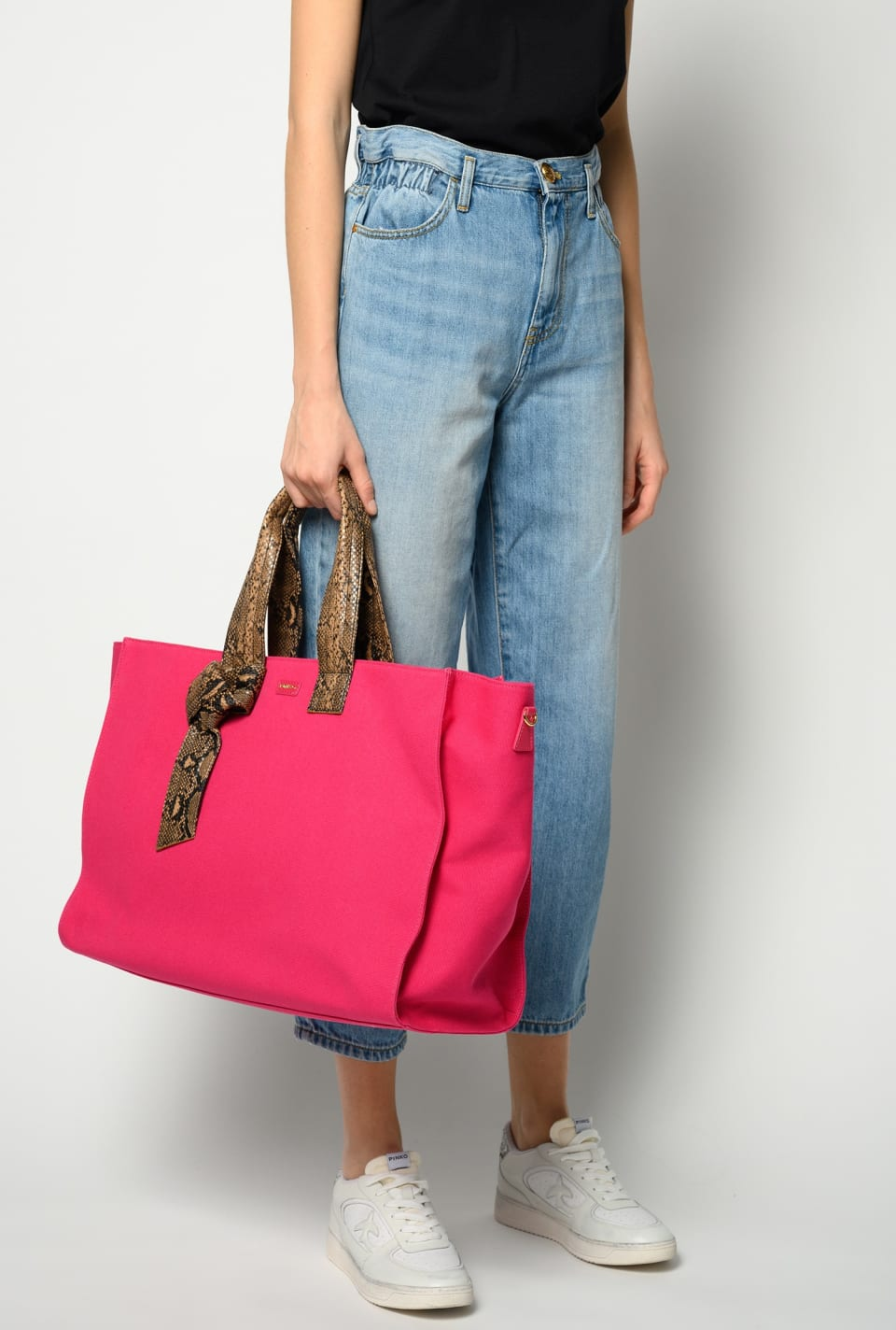 Big Shopping Bag in recycled canvas - Pinko
