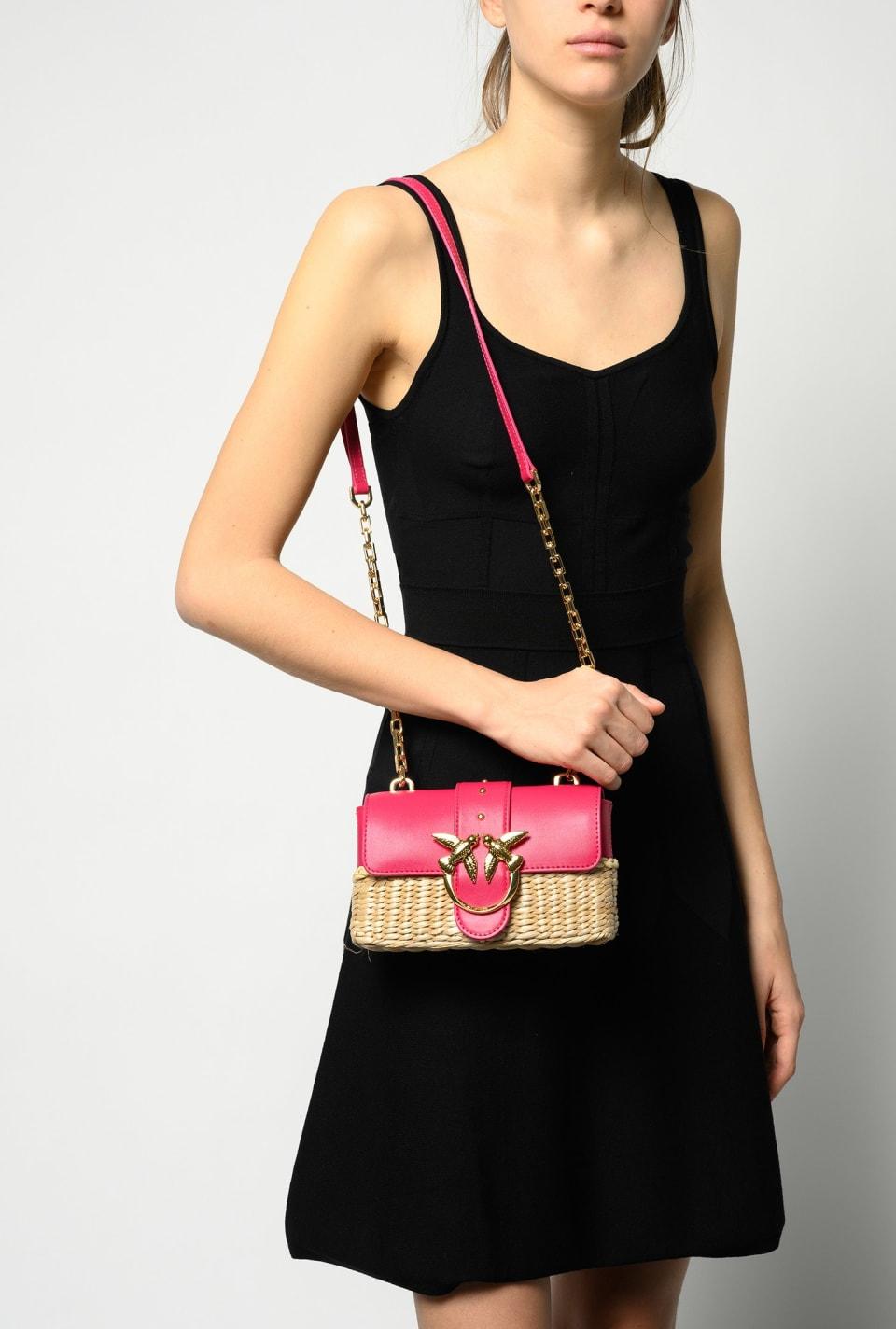 Mini Love Bag Icon en moelle de rotin - Pinko