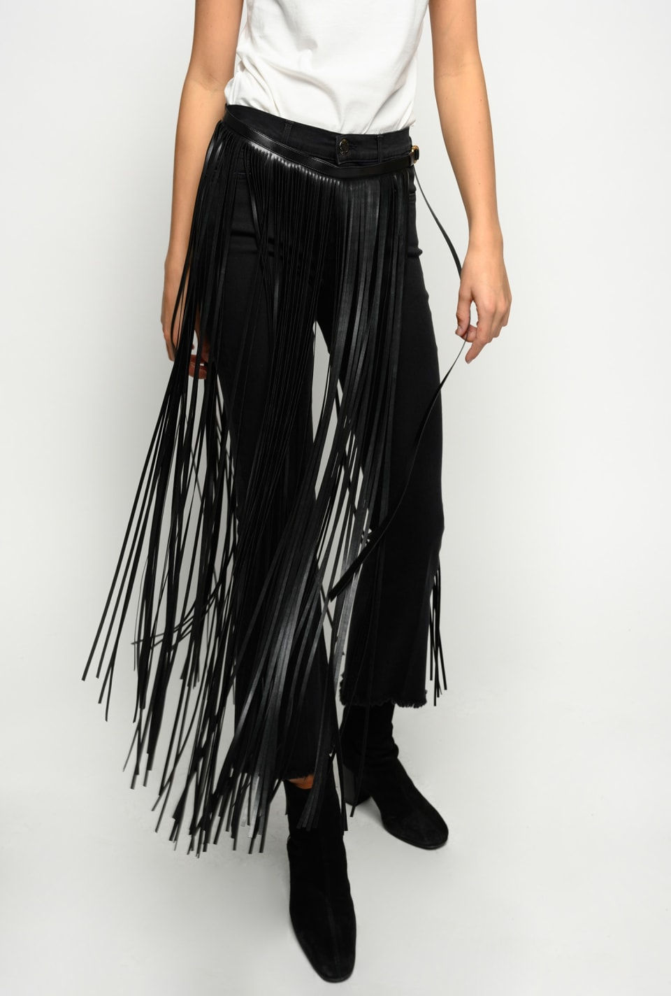 Belt with maxi fringes - Pinko