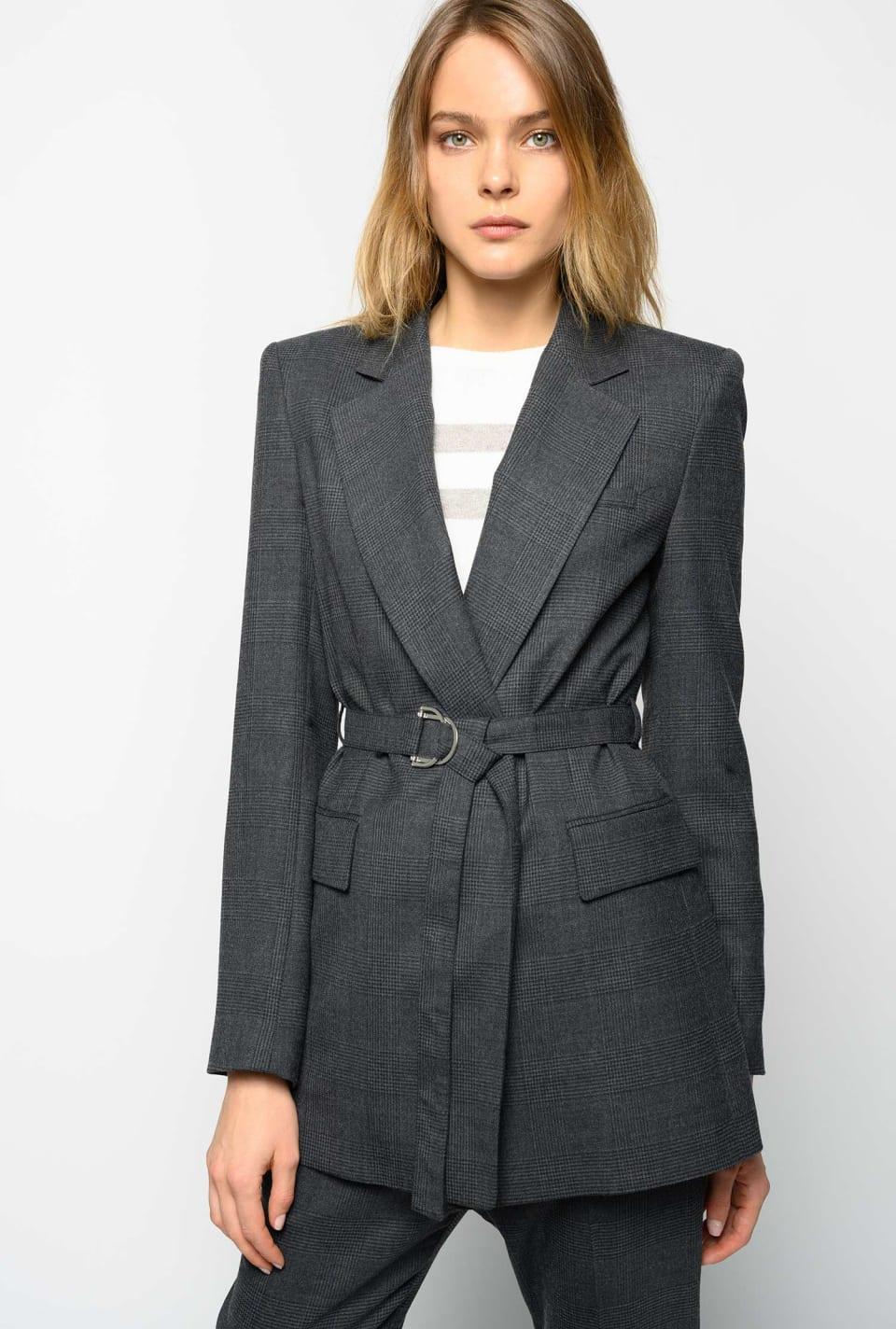 Blazer in galles di lana