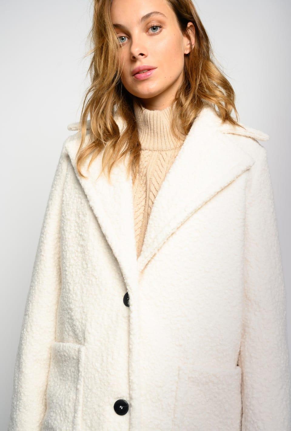 Abrigo largo efecto shearling