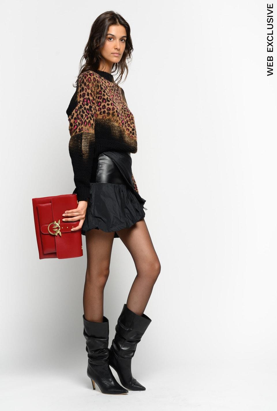 Taffeta mini skirt
