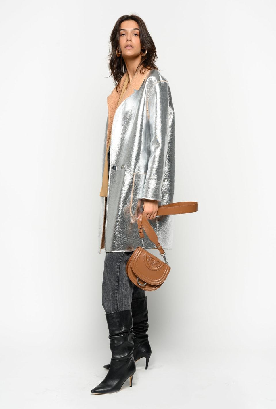 Cappotto reversibile in lana cotta