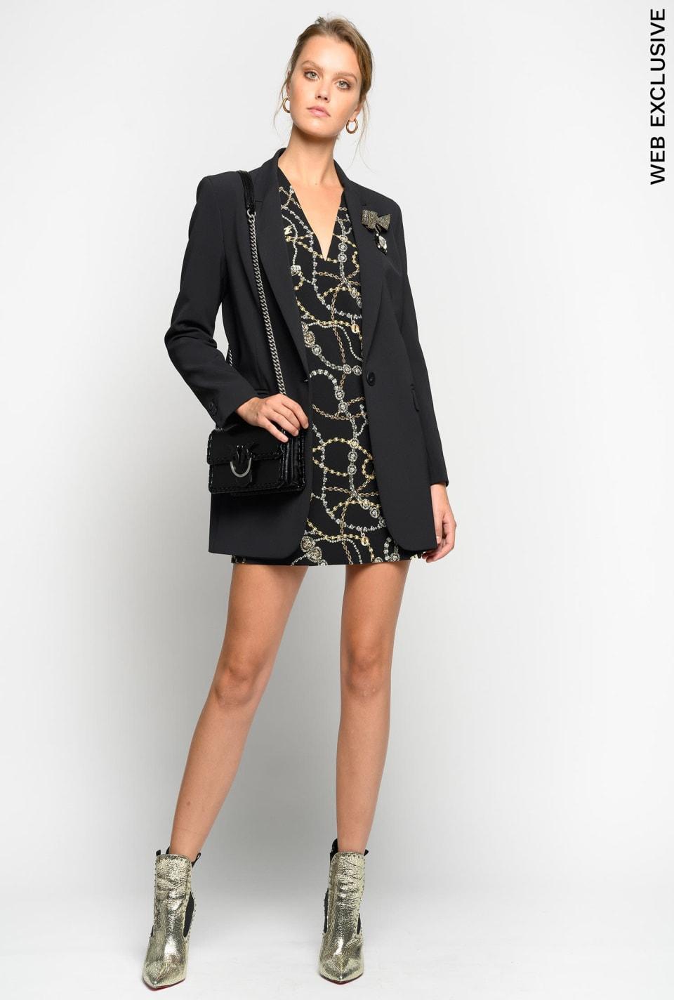 Jewel-print tunic dress