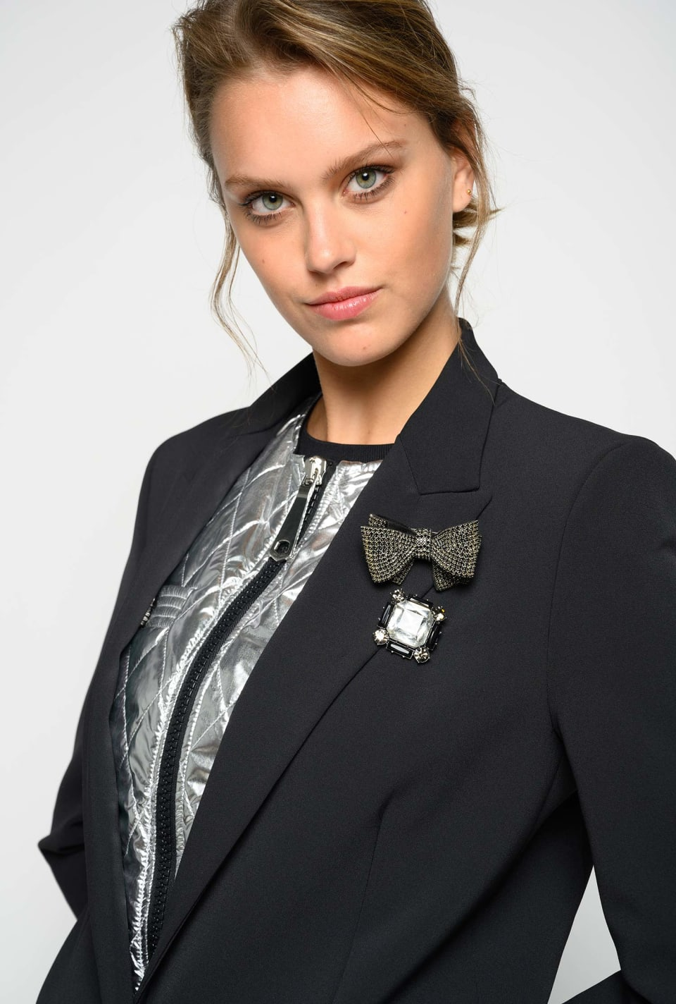 Blazer with jewel details