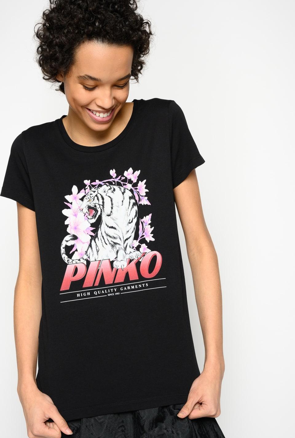 Camiseta con motivo de tigre