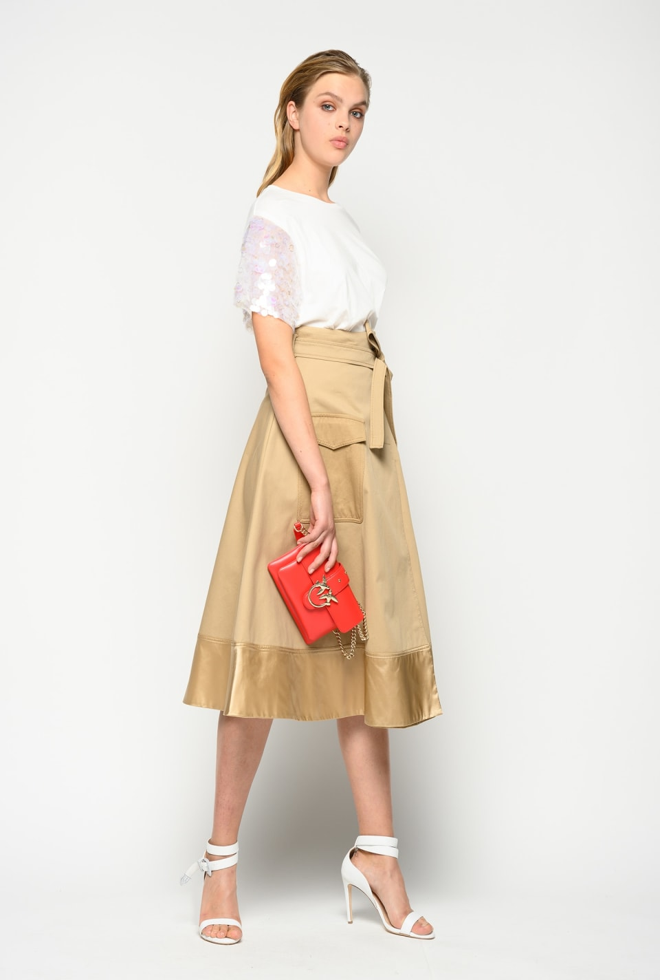 Midi skirt with pocket