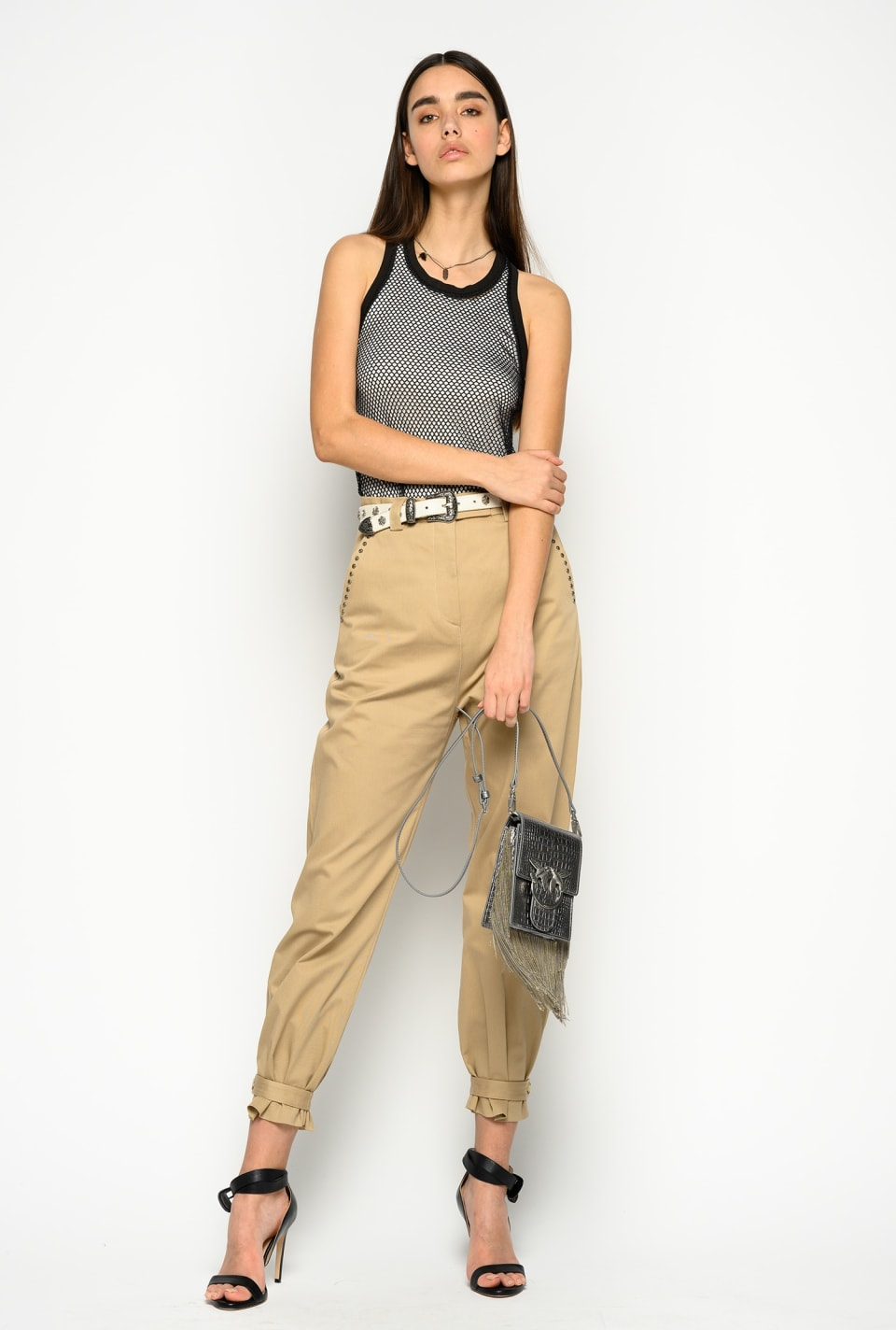Micro studs trousers