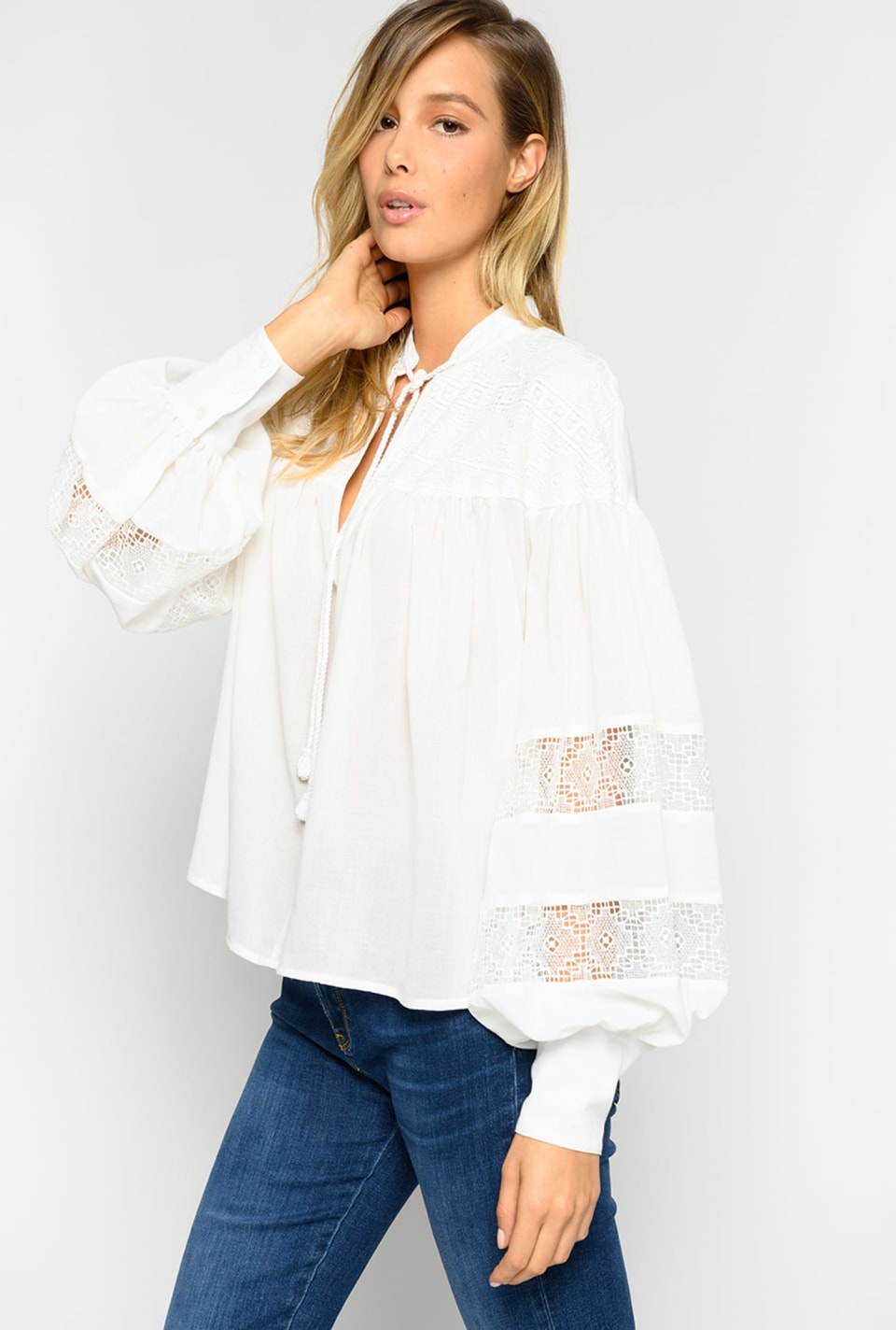 棉绉纱柔软罩衫