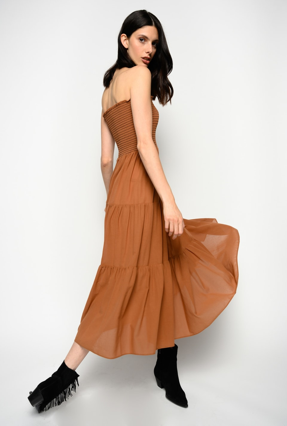 Crepe dress-skirt