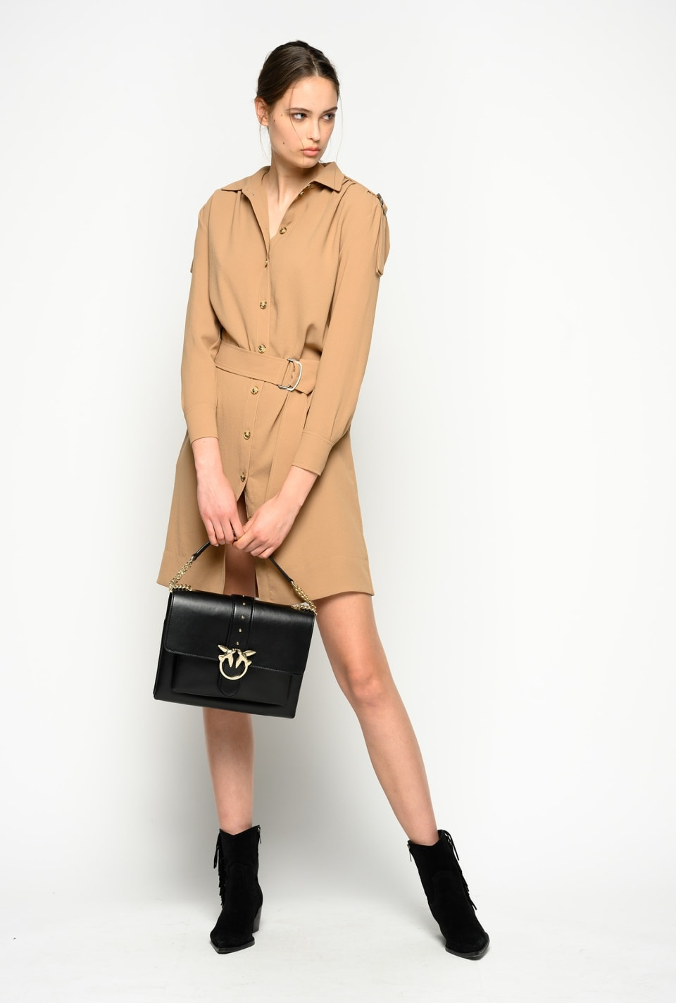 Military style shirtdress
