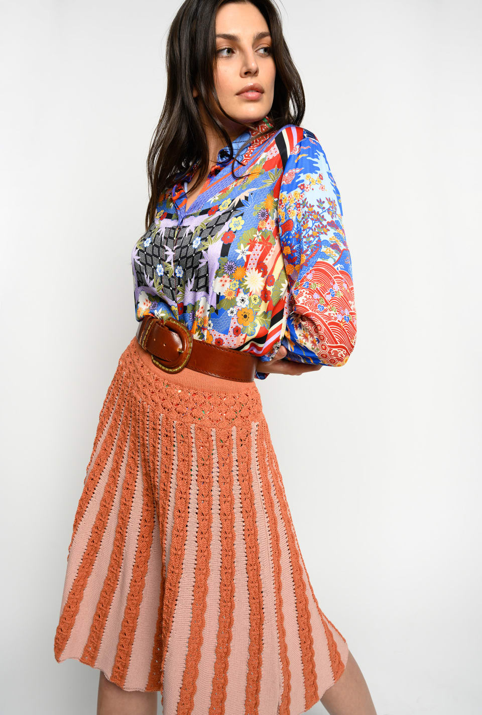 Shirt with orient print