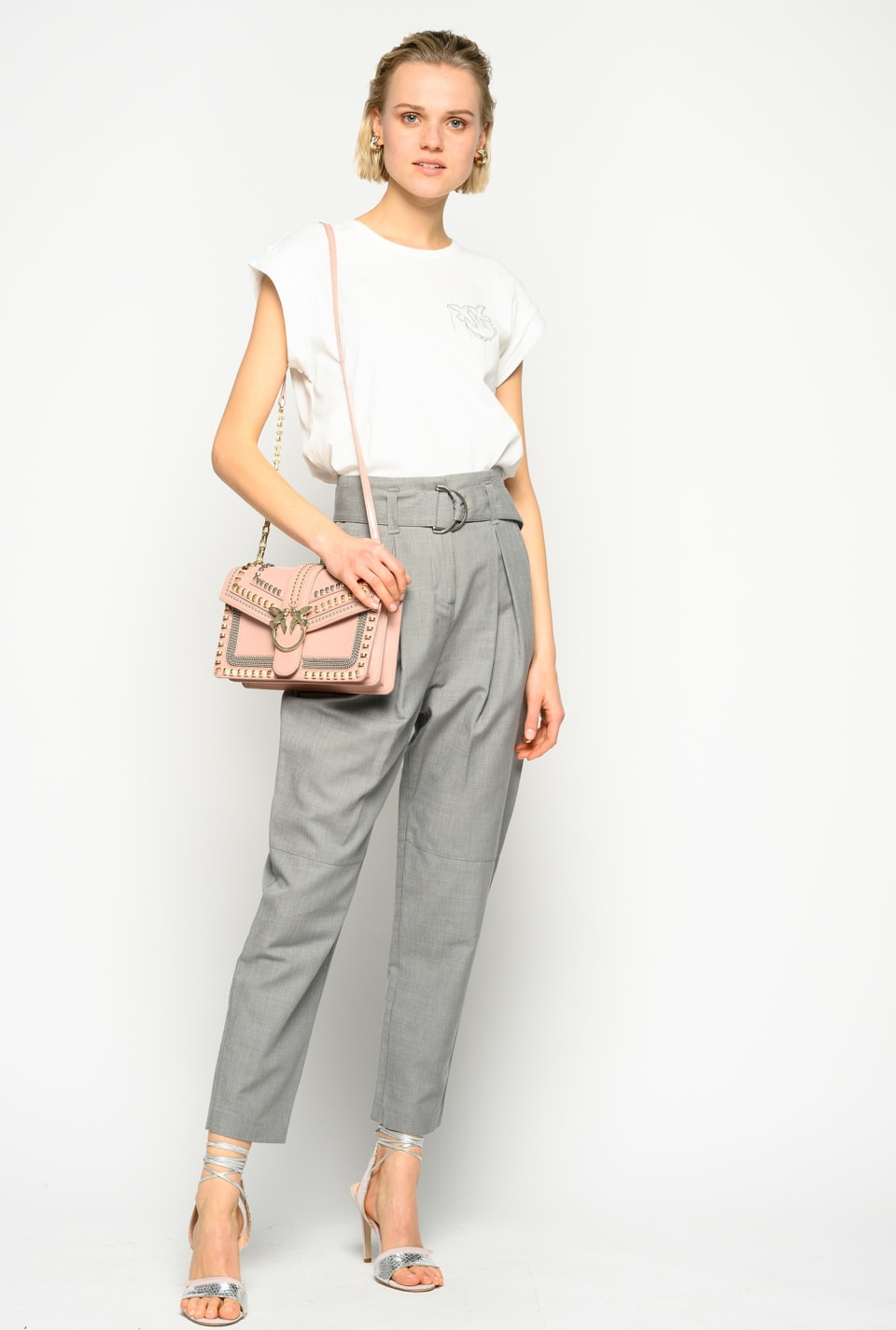 Trousers in grisaille