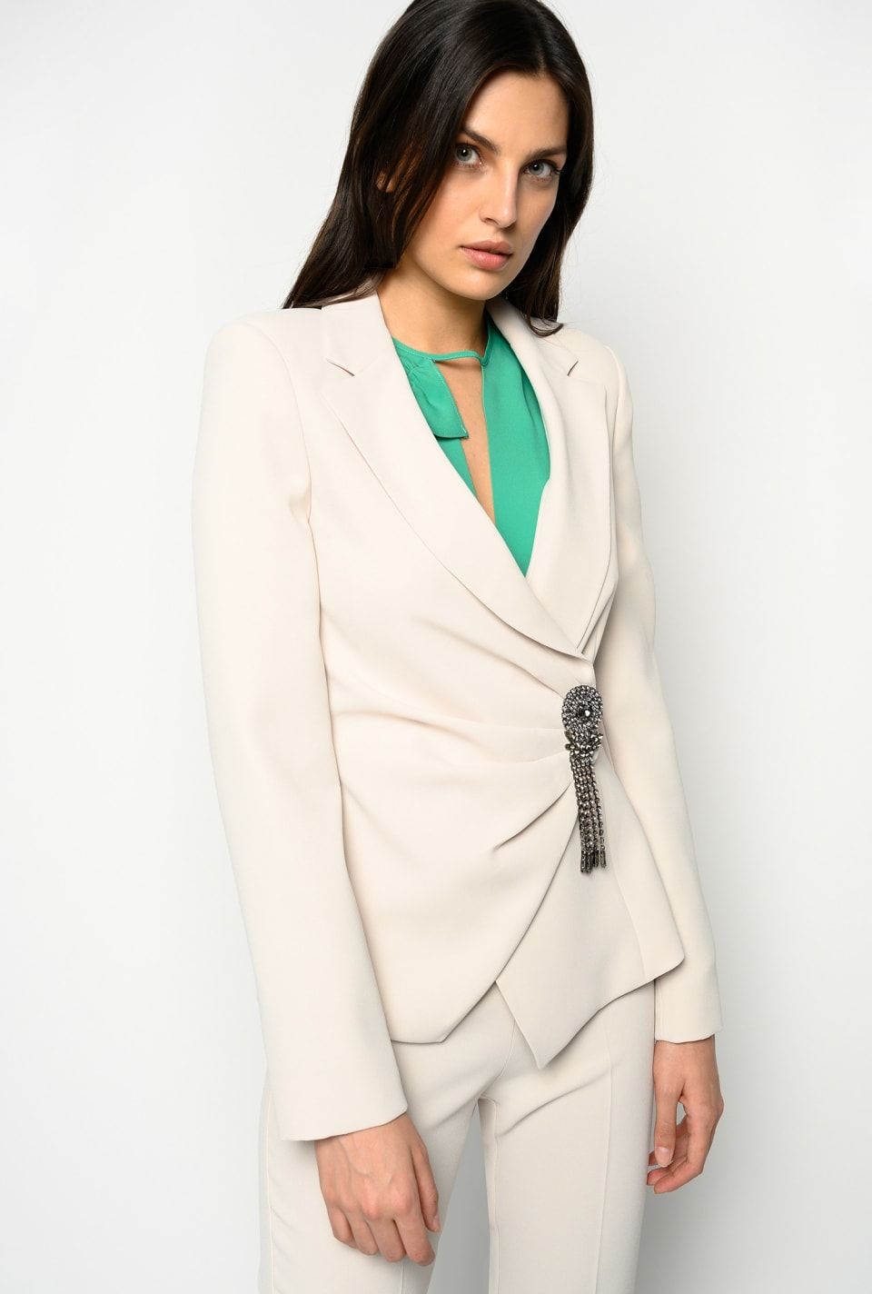 Blazer with jewel detail