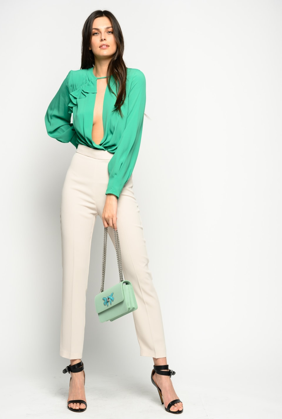Poly crepe trousers - Pinko