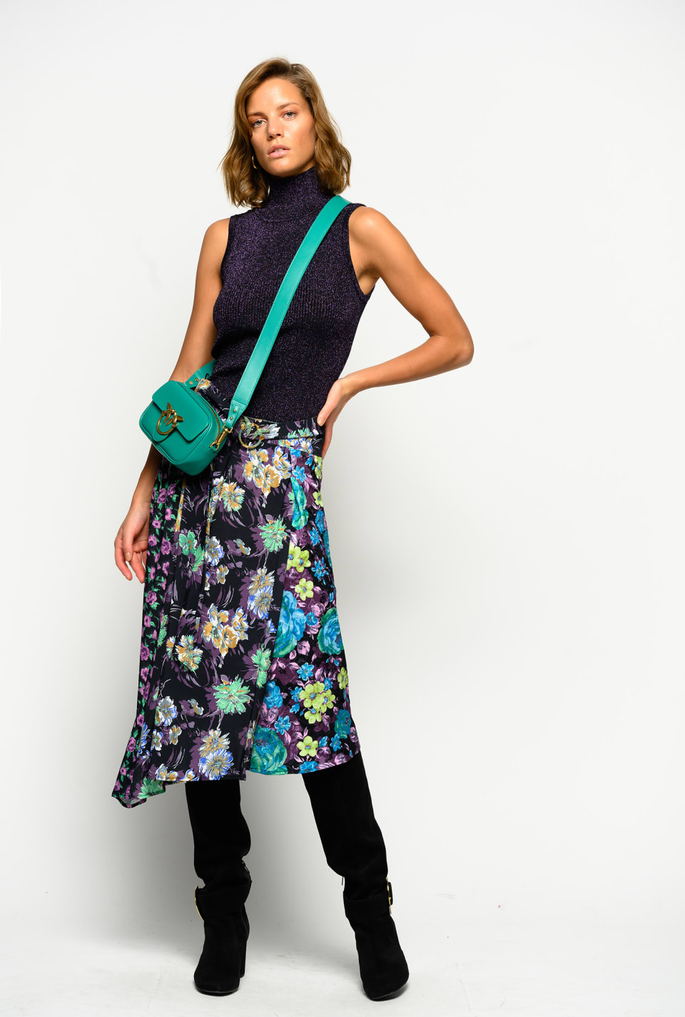 Floral patchwork skirt