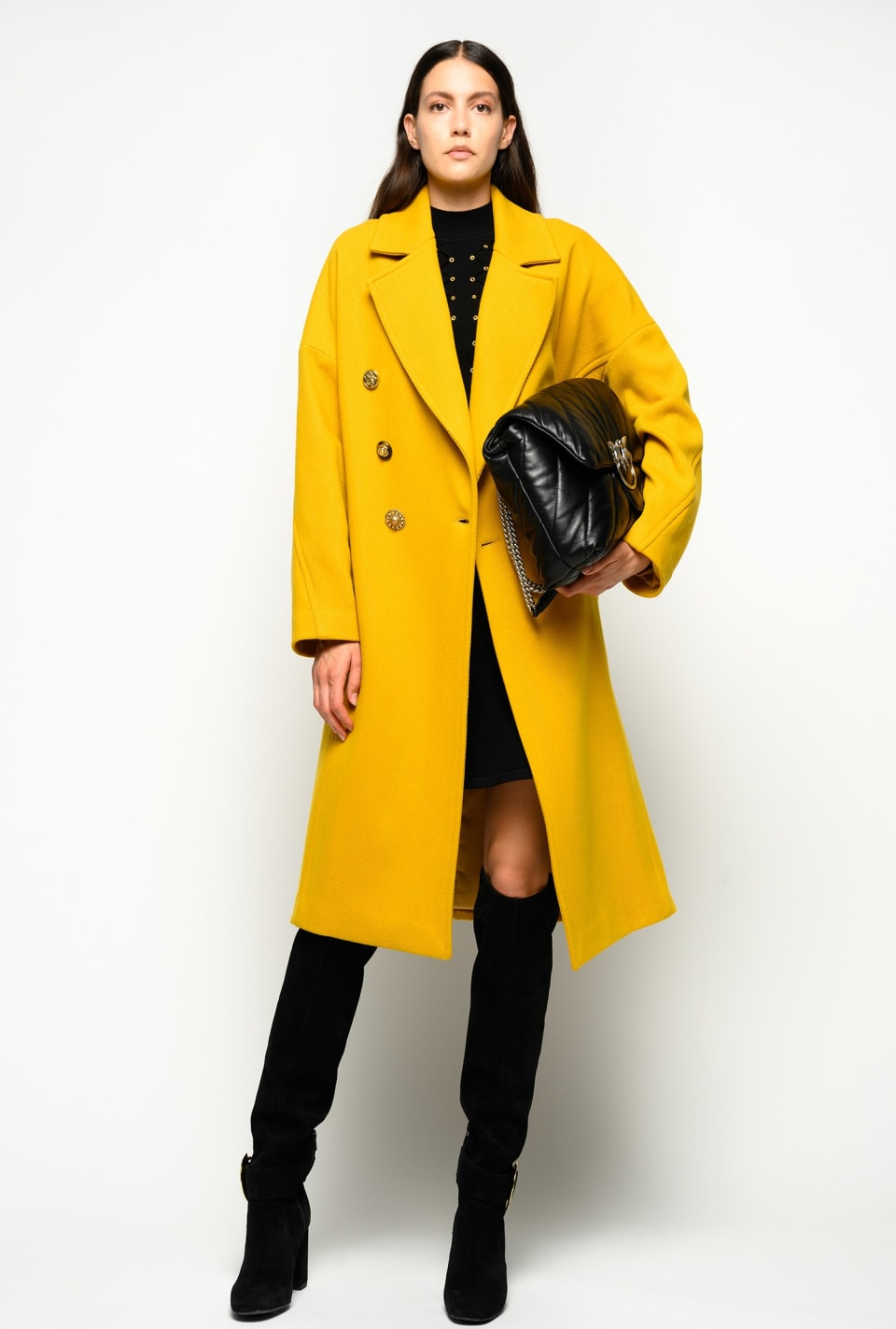 Chevron Melton pea coat