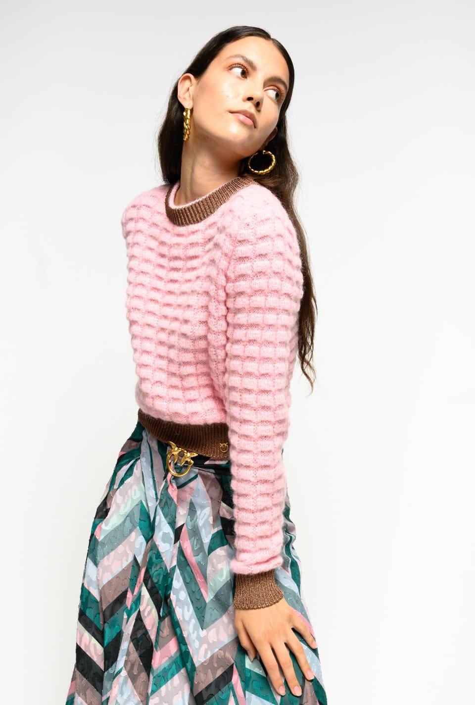 羊驼毛混纺套头衫 - Pinko