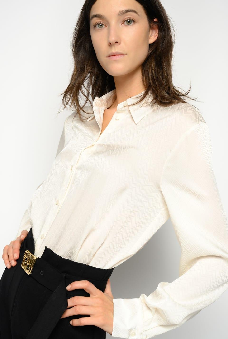 Chevron jacquard shirt - Pinko