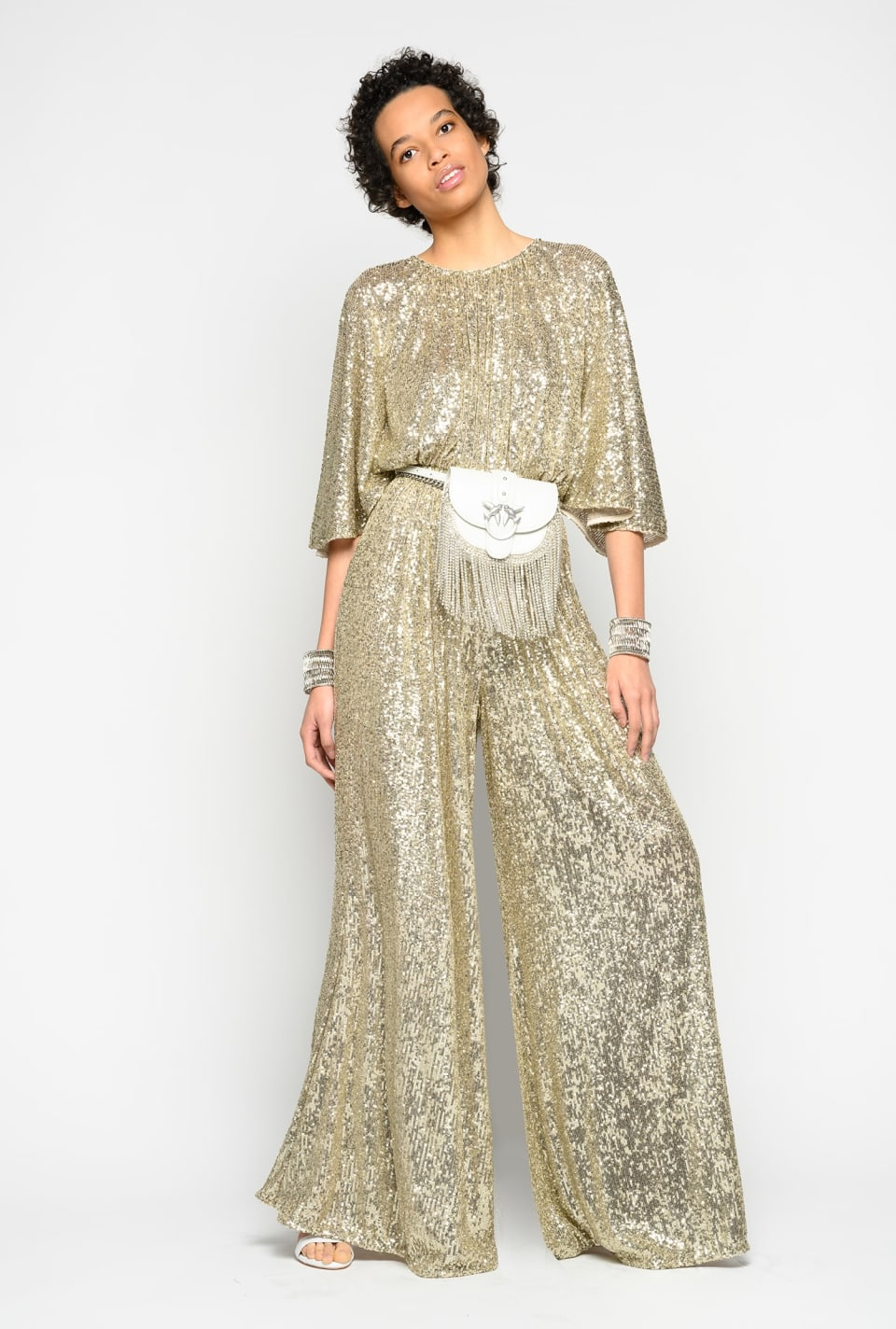 All-in-over sequin jumpsuit - Pinko