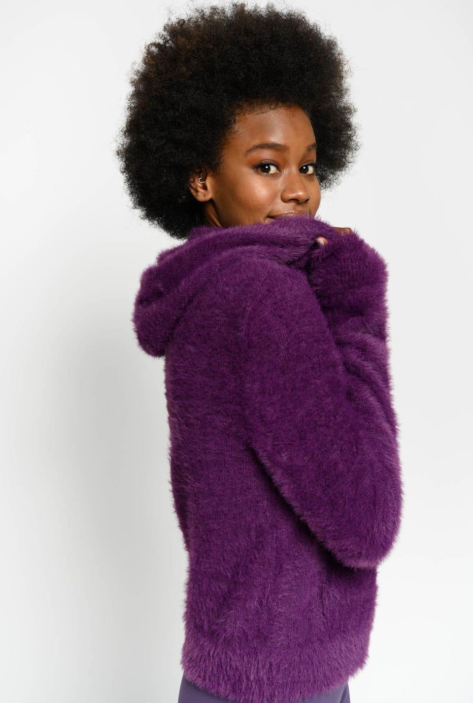 Sudadera de suave punto tricot