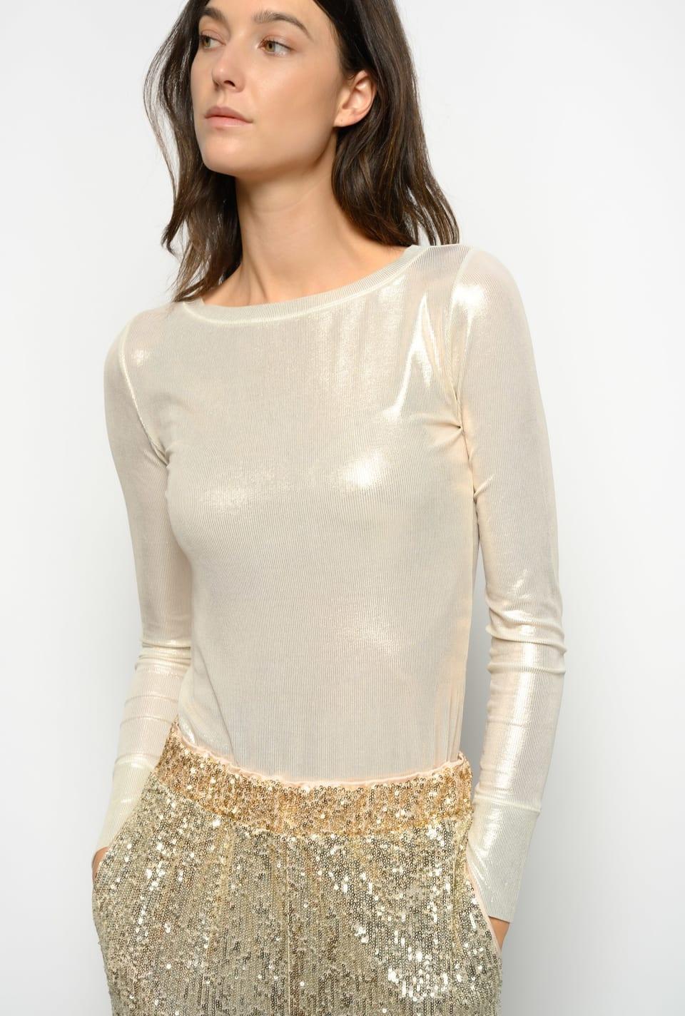 Ribbed laminated sweater - Pinko