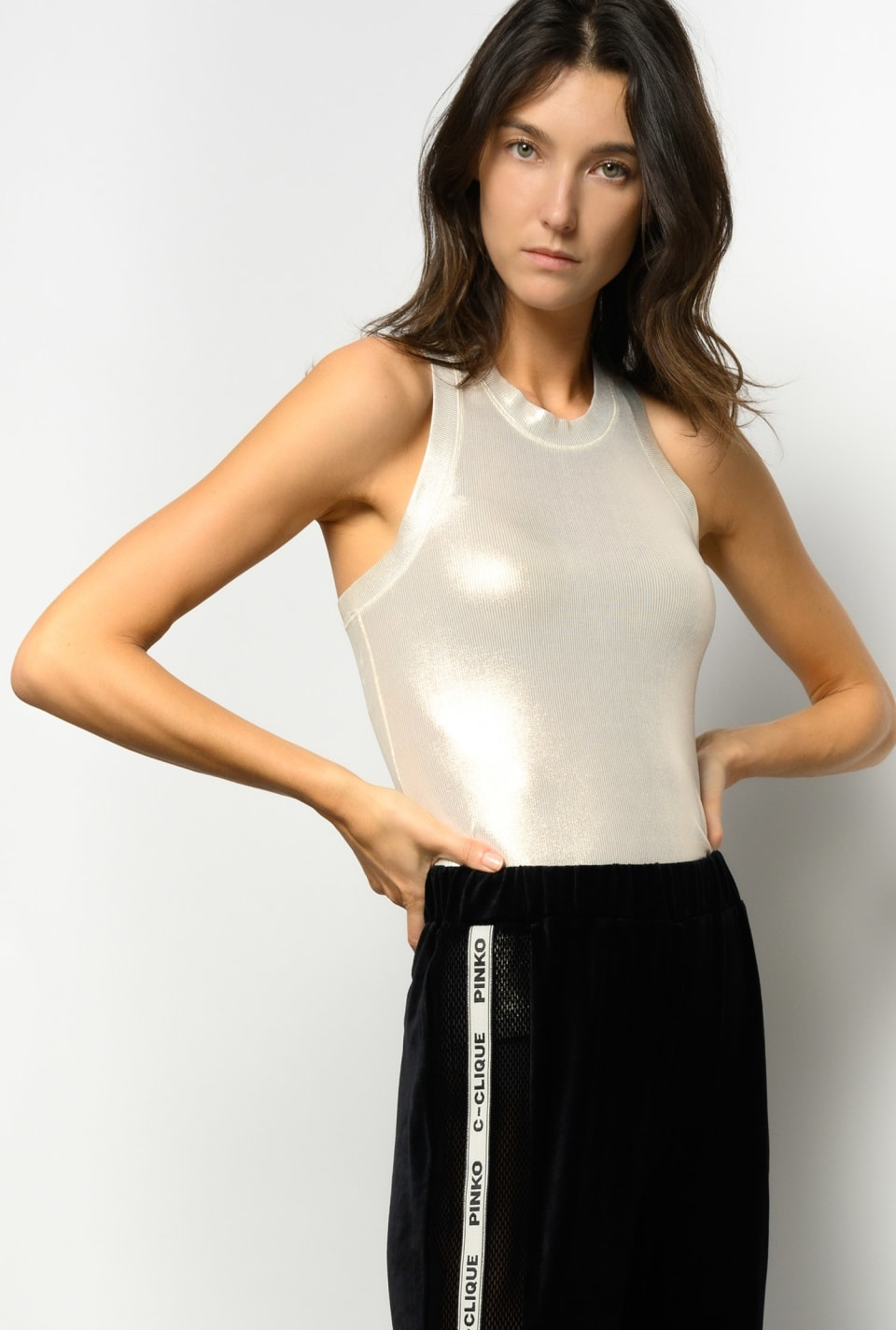 Laminated tank top - Pinko