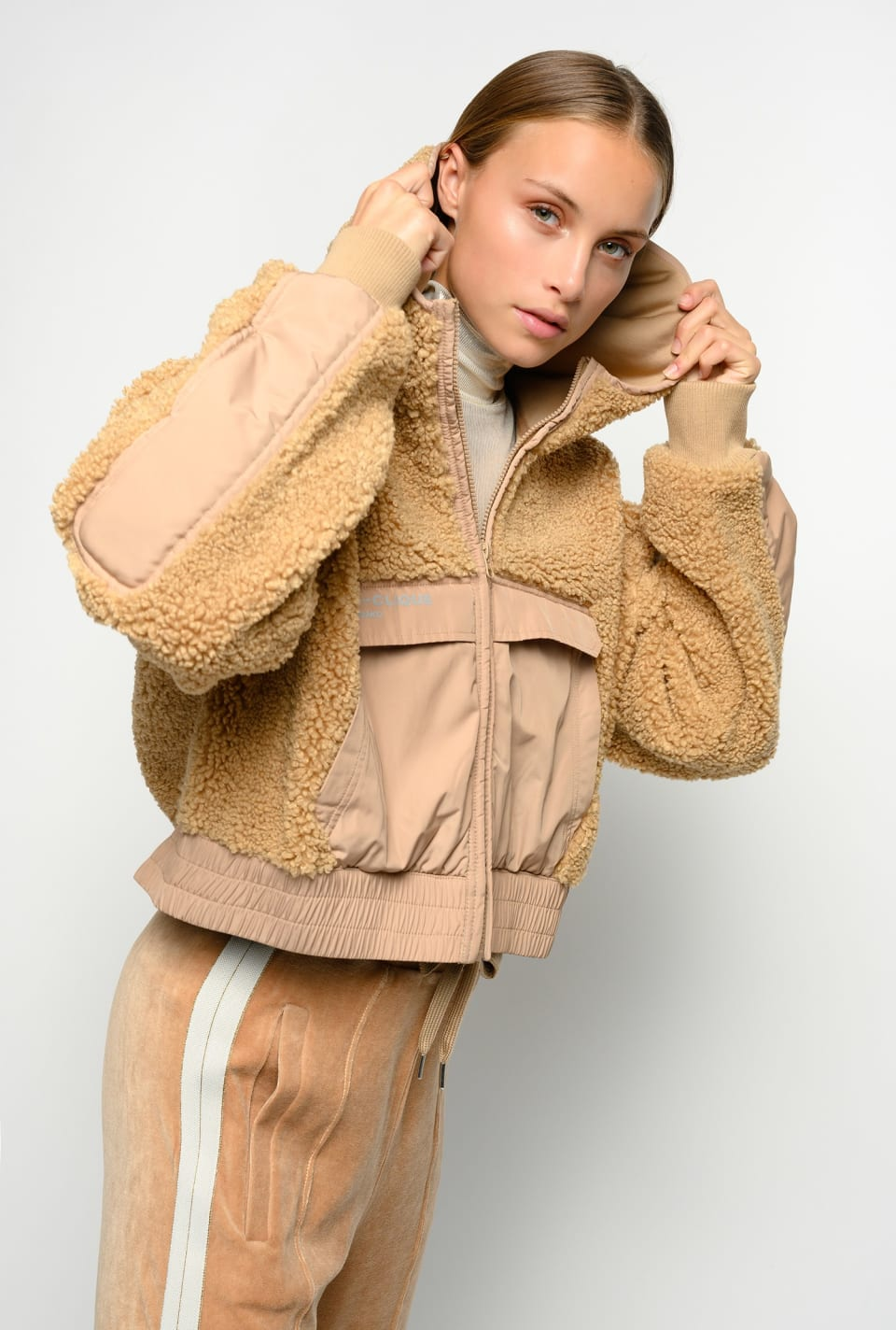 Bonded sherpa jacket - Pinko