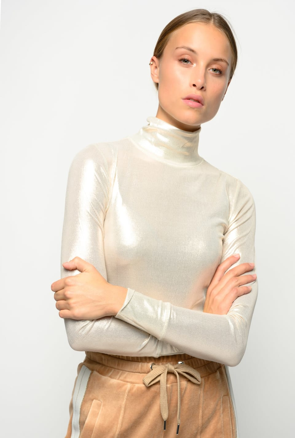 Ribbed laminated Turtleneck - Pinko