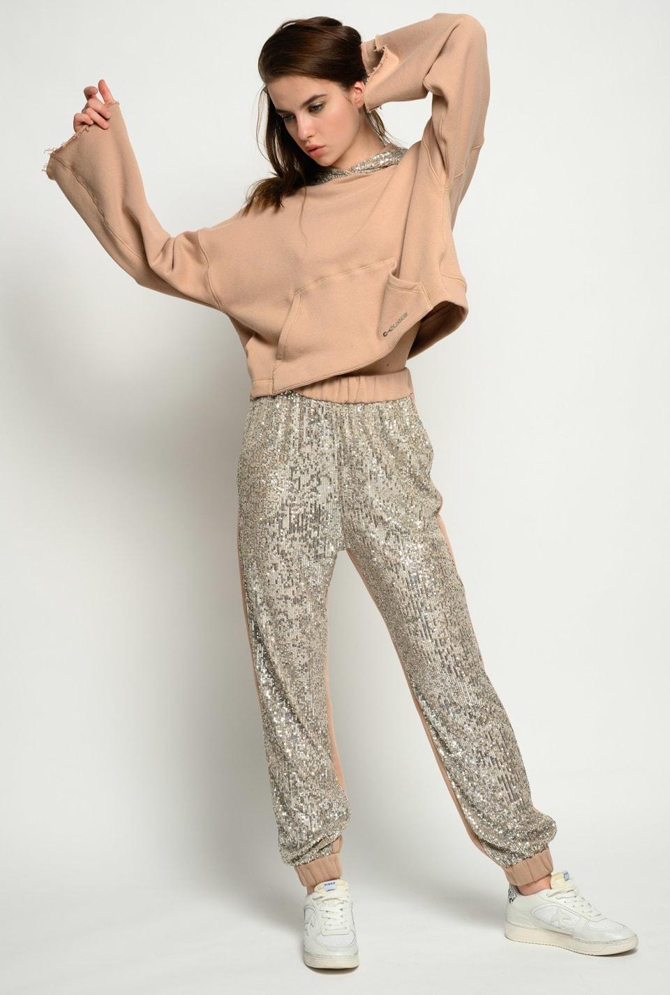 Fleece sequin joggers - Pinko