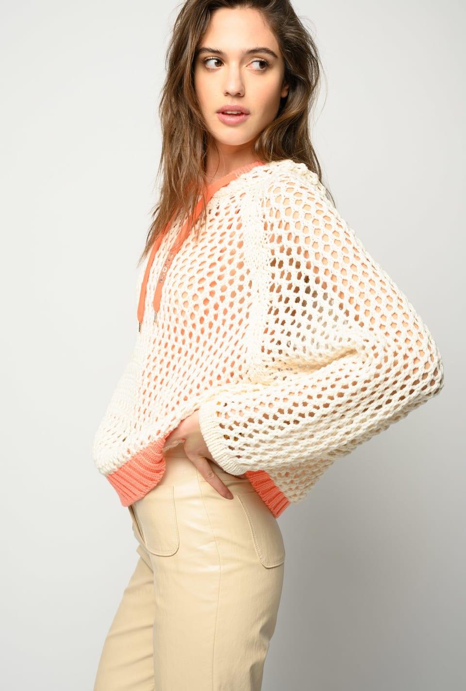 Crochet-look pullover - Pinko