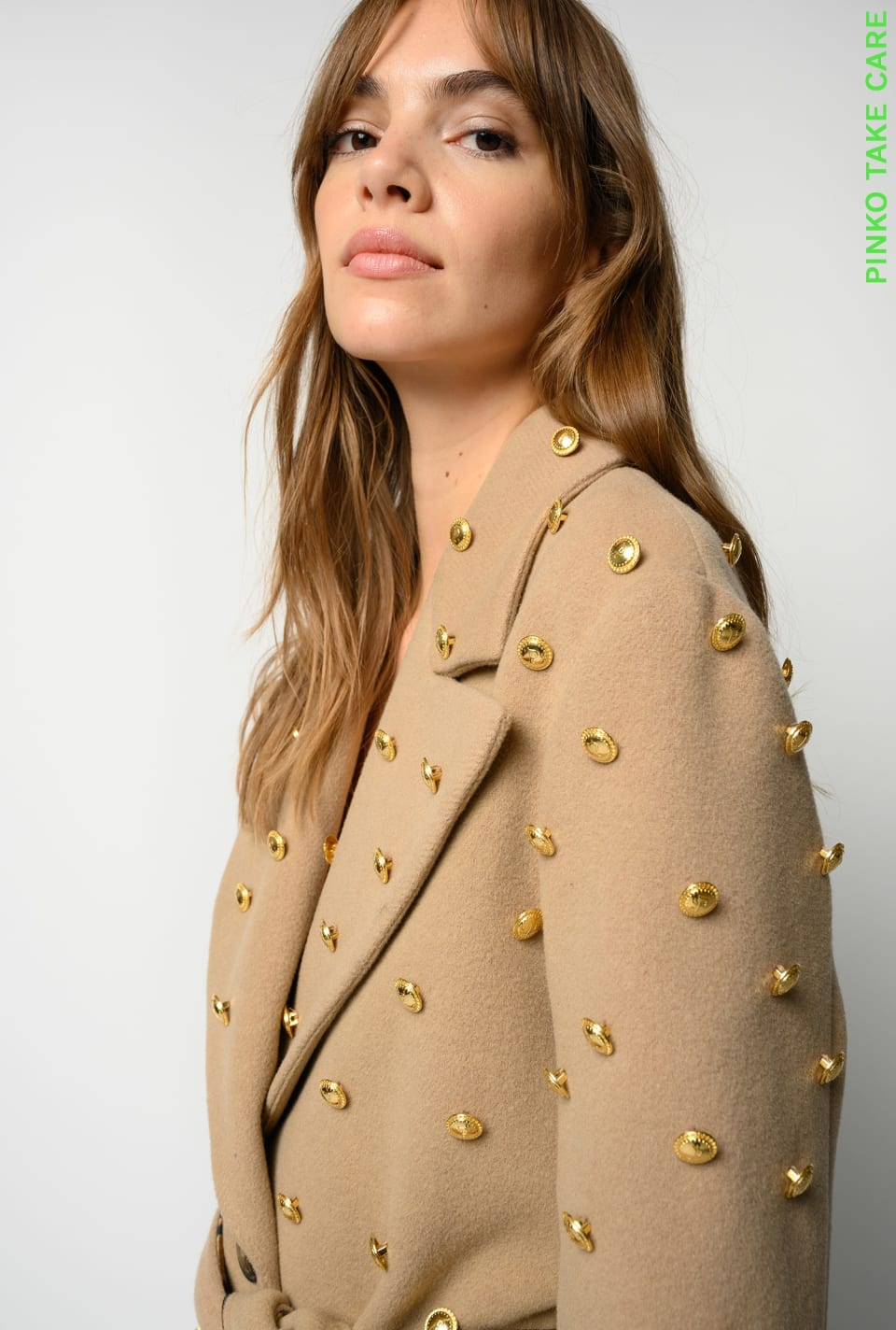 REIMAGINE wraparound coat with buttons - Pinko