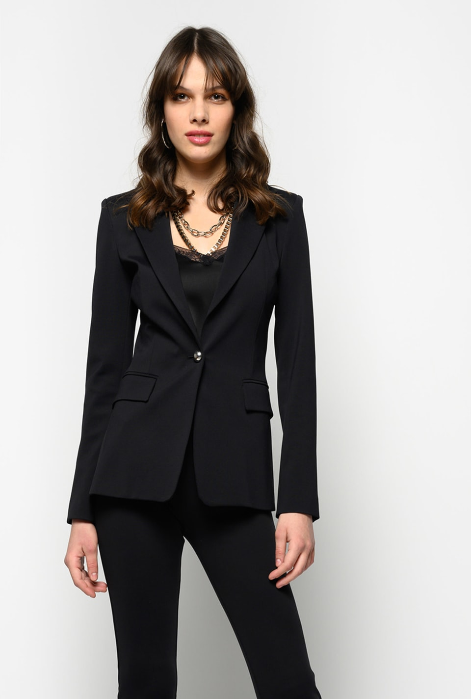 Technical Milano stitch blazer - Pinko