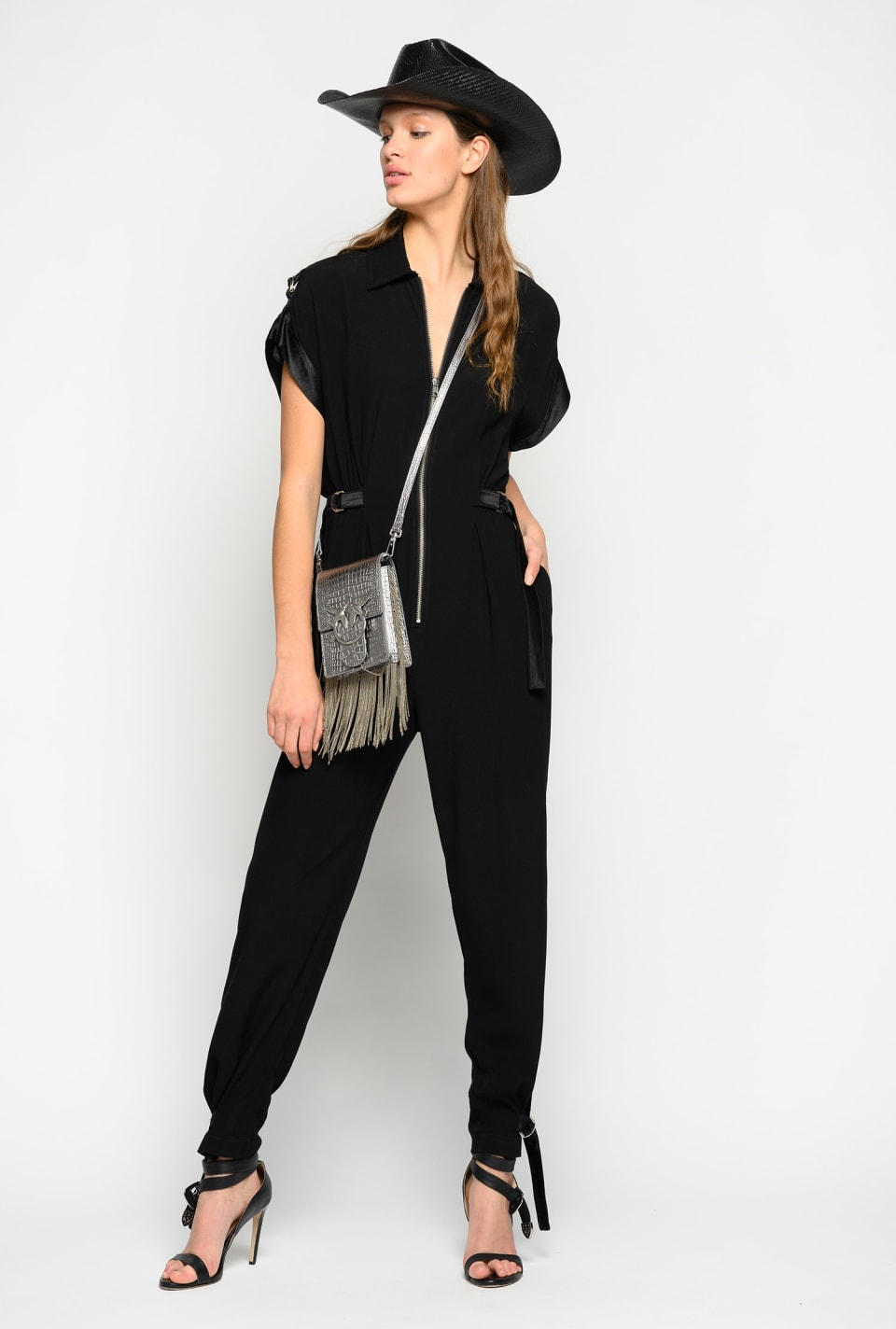 Jumpsuit in envers satin