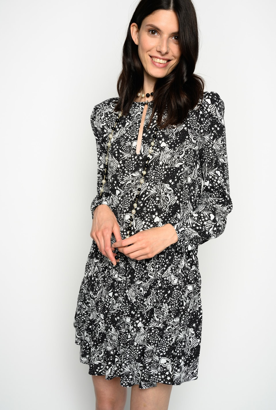Tarot print dress - Pinko