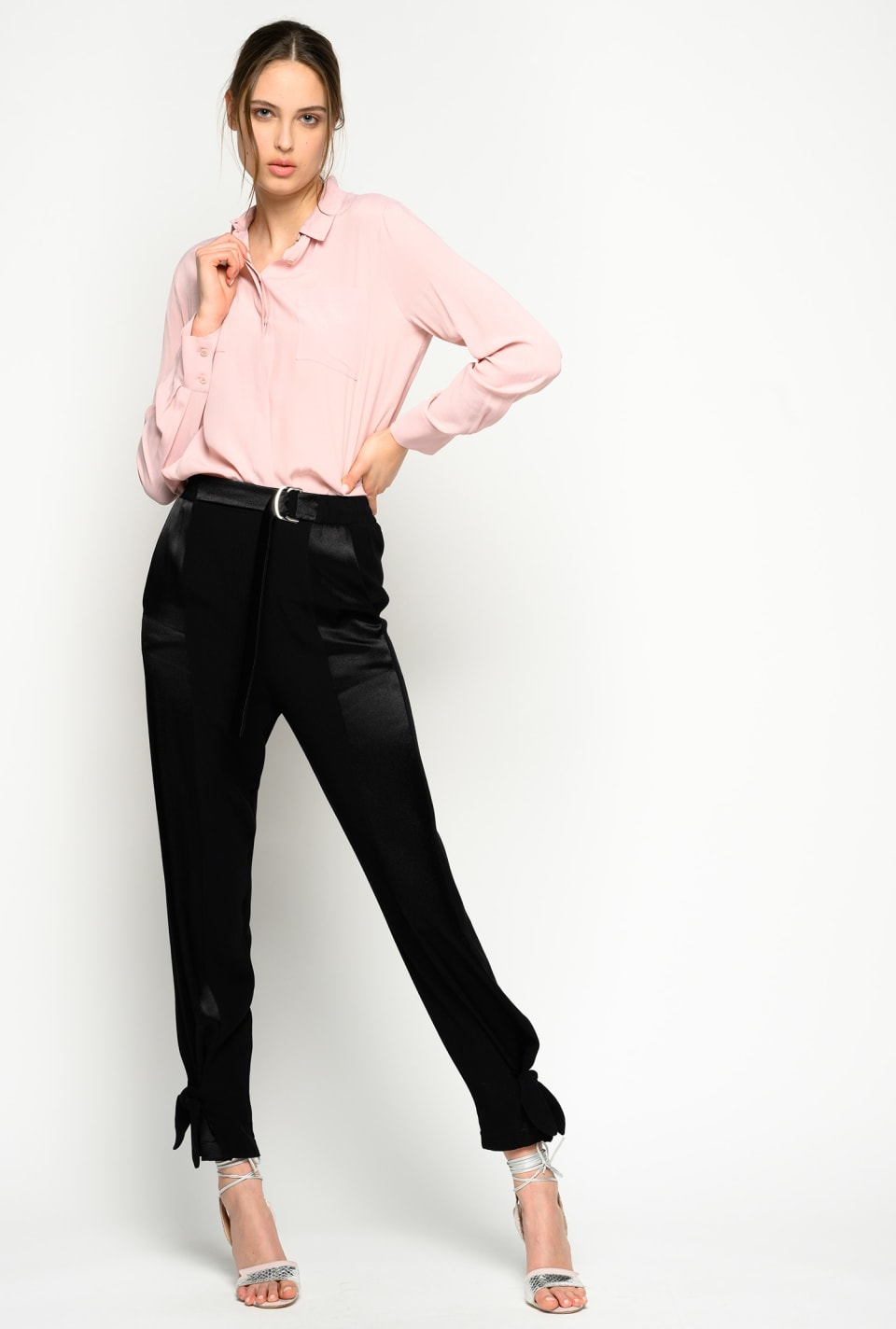 Trousers in envers satin - Pinko