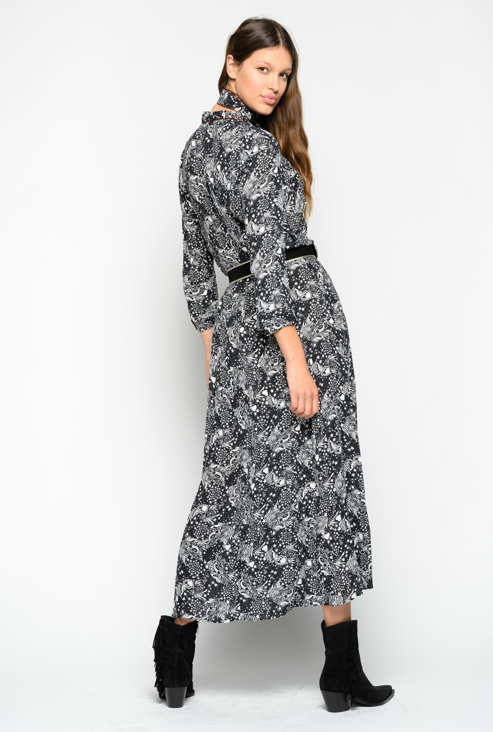 Long tarot-print dress