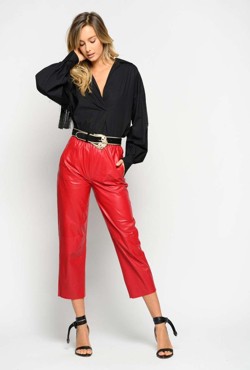 Ultralight leather trousers
