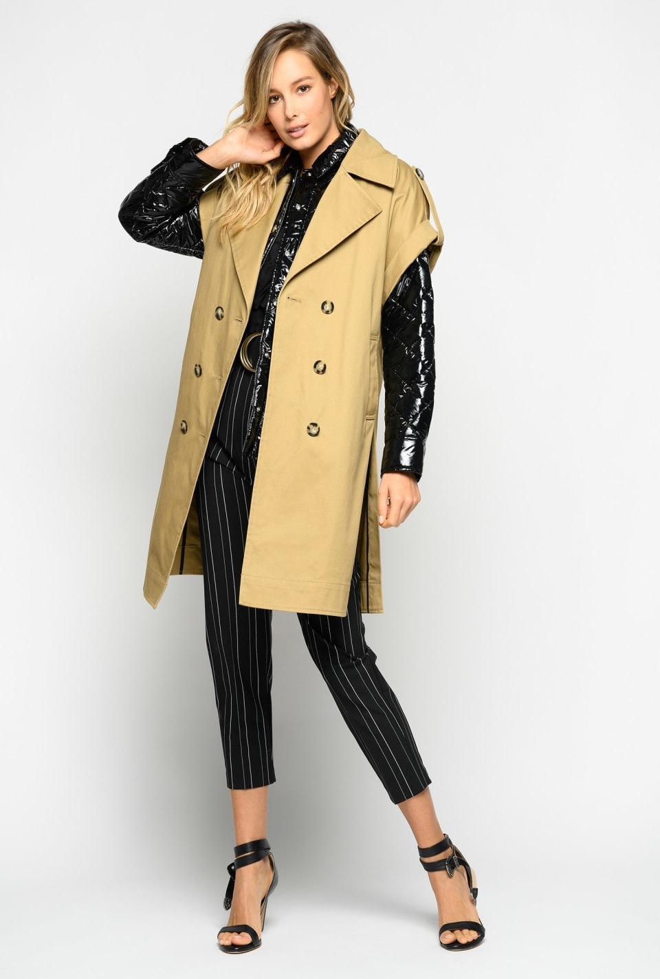 Trench coat with padded jacket - Pinko