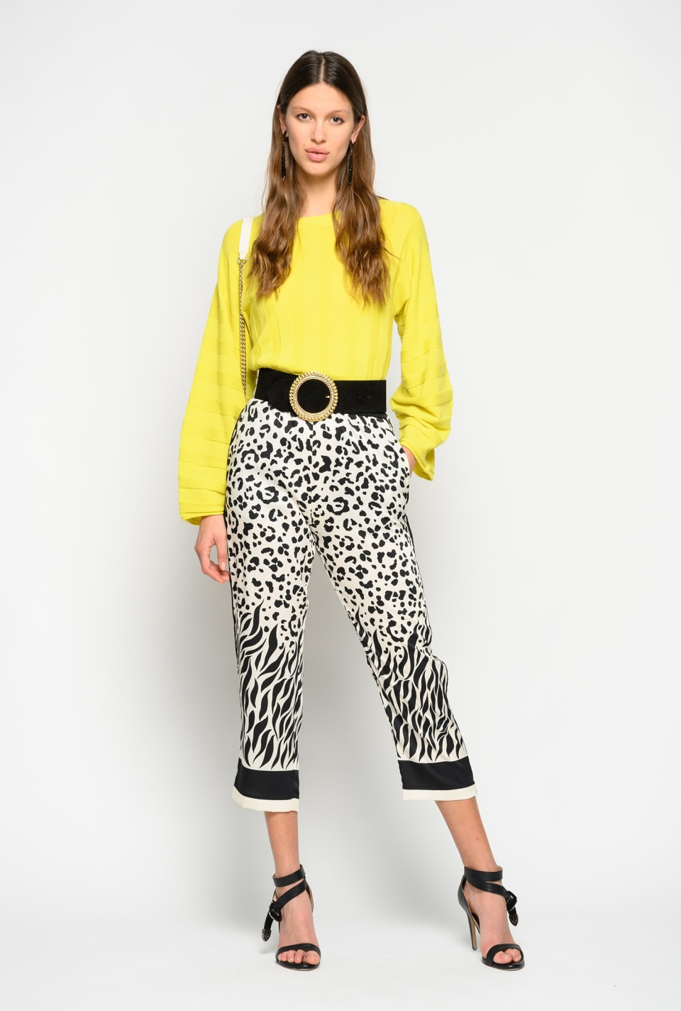 Trousers with mixed faded animal pattern - Pinko